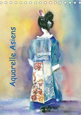 Aquarelle Asiens (Tischkalender 2019 DIN A5 hoch), Jitka Krause