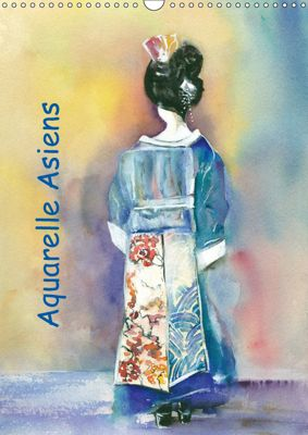 Aquarelle Asiens (Wandkalender 2019 DIN A3 hoch), Jitka Krause