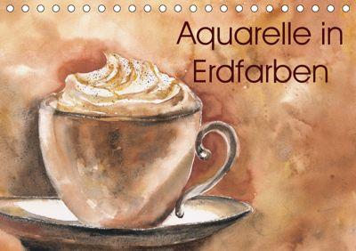 Aquarelle in Erdfarben (Tischkalender 2019 DIN A5 quer), Jitka Krause