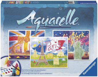 Aquarelle Maxi, Bildgröße 30 x 24 cm: Weltstädte