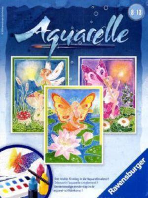 Aquarelle Midi, Bildgröße 18 x 24 cm: Elfen