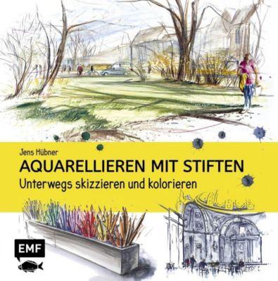 Aquarellieren mit Stiften - Jens Hübner |