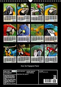 Aras. Der Papageien-Planer (Wandkalender 2019 DIN A3 hoch) - Produktdetailbild 13