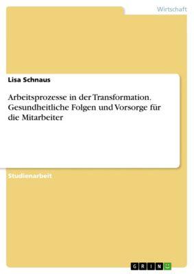 Arbeitsprozesse in der Transformation. Gesundheitliche Folgen und Vorsorge für die Mitarbeiter, Lisa Schnaus
