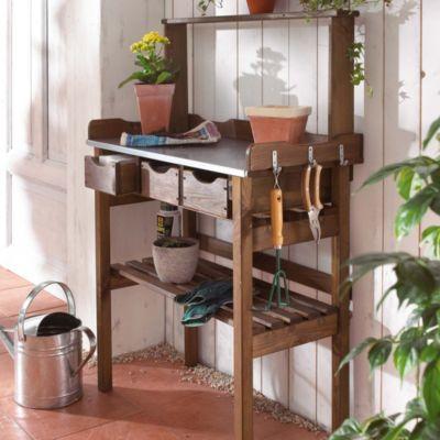 arbeitstisch garten farbe braun jetzt bei bestellen. Black Bedroom Furniture Sets. Home Design Ideas