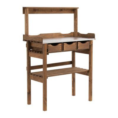 arbeitstisch garten farbe braun jetzt bei. Black Bedroom Furniture Sets. Home Design Ideas