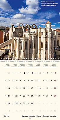 Architecture of Lisbon over the course of time (Wall Calendar 2019 300 × 300 mm Square) - Produktdetailbild 1