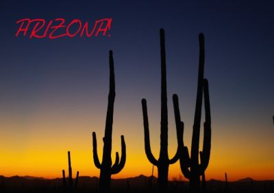 Arizona! / UK-Version (Stand-Up Mini Poster DIN A5 Landscape), Claudio Del Luongo