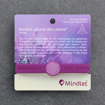 armband mindlet blume des lebens violett bestellen. Black Bedroom Furniture Sets. Home Design Ideas