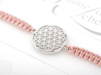 Armband mit Element - Blume des Lebens, Crystals