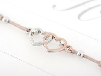 Armband mit Element & Kristallen - Herz an Herz, Crystals