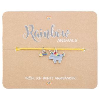 Armband - Rainbow Animals - Einhorn, Crystals