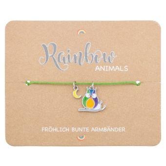 Armband - Rainbow Animals - Eule, Crystals