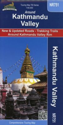 Around Kathmandu Valley 1 : 60 000