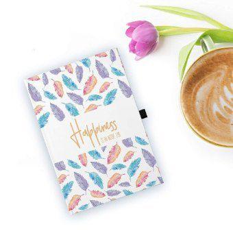 Art Shipper® Hardcover Notizbuch Feathers A5 mit Stifthalter