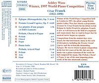 Ashley Wass (1997 World Piano Winner) (Werke von Cesar Franck) - Produktdetailbild 1