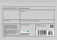 ASIA STREET FOOD - So schmeckt Asien (Tischkalender 2019 DIN A5 quer) - Produktdetailbild 13