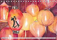 Asiatische Aquarelle (Tischkalender 2019 DIN A5 quer) - Produktdetailbild 6