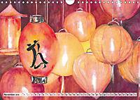 Asiatische Aquarelle (Wandkalender 2019 DIN A4 quer) - Produktdetailbild 11