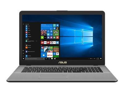 ASUS N705UD-GCJ28T IC i5-8250U 43,9cm 17,3Zoll Non-Glare 8GB DDR4 256GB SSD+1TB HDD SATA NVidia GTX1050 Win10 Dark Grey Metal 2J PUR