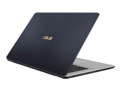 ASUS N705UN-GCE37T IC i5-8250U 43,9cm 17,3Zoll Non-Glare 8GB DDR4 256GB SSD+1TB HDD SATA NVidia MX150 Win10 Dark Grey Metal 2J PUR