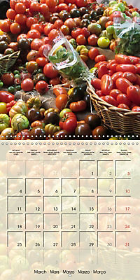 At the weekly market (Wall Calendar 2019 300 × 300 mm Square) - Produktdetailbild 3
