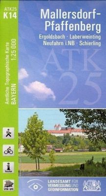 ATK25-K14 Mallersdorf-Pfaffenberg (Amtliche Topographische Karte 1:25000), Breitband und Vermessung, Bayern Landesamt für Digitalisierung