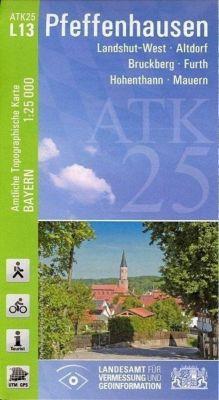 ATK25-L13 Pfeffenhausen (Amtliche Topographische Karte 1:25000), Breitband und Vermessung, Bayern Landesamt für Digitalisierung