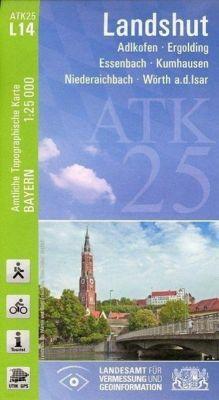 ATK25-L14 Landshut (Amtliche Topographische Karte 1:25000), Breitband und Vermessung, Bayern Landesamt für Digitalisierung