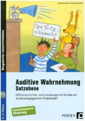 Auditive Wahrnehmung - Satzebene, m. 2 Audio-CDs, Julia Rosendahl, Tobias Rosendahl