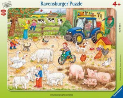 Auf dem grossen Bauernhof. Rahmenpuzzle 40 Teile