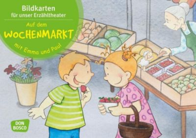 Auf dem Wochenmarkt mit Emma und Paul. Kamishibai Bildkartenset - Monika Lehner pdf epub