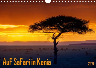 Auf Safari in Kenia 2019 (Wandkalender 2019 DIN A4 quer), Gerd-Uwe Neukamp