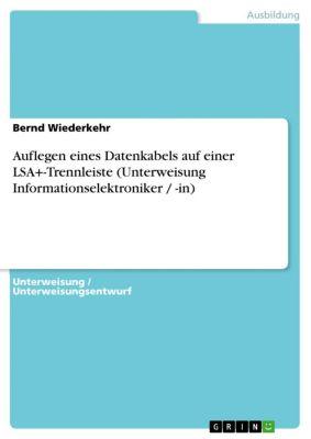 Auflegen eines Datenkabels auf einer LSA+-Trennleiste (Unterweisung Informationselektroniker / -in), Bernd Wiederkehr