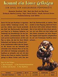 Augsburger Puppenkiste - Kommt ein Löwe geflogen - Produktdetailbild 1