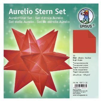 Aurelio Stern Set, Faltblätter rot 20 cm, URSUS®
