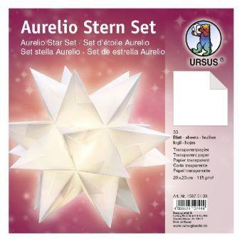 Aurelio Stern Set, Faltblätter weiss 20 cm, URSUS®