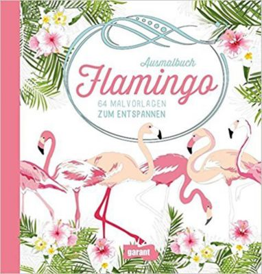 Ausmalbuch Flamingo