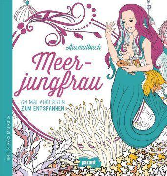 Ausmalbuch Meerjungfrau