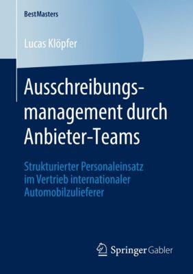 Ausschreibungsmanagement durch Anbieter-Teams - Lucas Klöpfer  