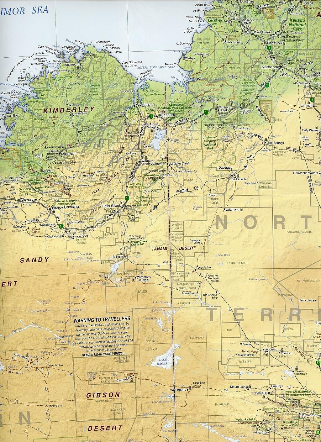Australia Road & Terrain Map 1 : 5 000 000 Buch - Weltbild.de