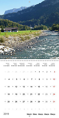 Austrian jewel - The Bregenzerach (Wall Calendar 2019 300 × 300 mm Square) - Produktdetailbild 3