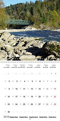 Austrian jewel - The Bregenzerach (Wall Calendar 2019 300 × 300 mm Square) - Produktdetailbild 9