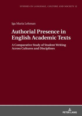 Authorial Presence in English Academic Texts, Iga Lehman