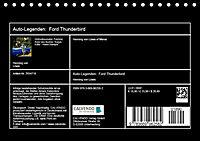 Auto-Legenden: FORD THUNDERBIRD (Tischkalender 2019 DIN A5 quer) - Produktdetailbild 13