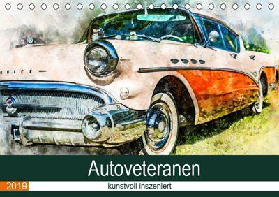 Autoveteranen - kunstvoll inszeniert (Tischkalender 2019 DIN A5 quer), Sonja Teßen