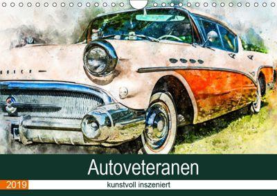 Autoveteranen - kunstvoll inszeniert (Wandkalender 2019 DIN A4 quer), Sonja Teßen