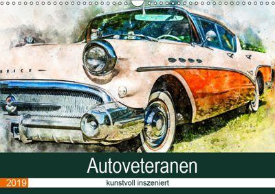 Autoveteranen - kunstvoll inszeniert (Wandkalender 2019 DIN A3 quer), Sonja Teßen