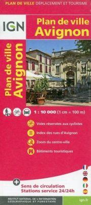 Avignon Plan de Ville 1 : 10 000