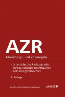 AZR - Abkürzungs- und Zitierregeln (f. Österreich) -  pdf epub